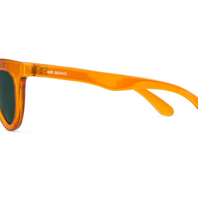 HAYES | TRANSPARENT ORANGE with classical lenses