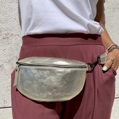 Bolsa de Cintura Simples | Dourado