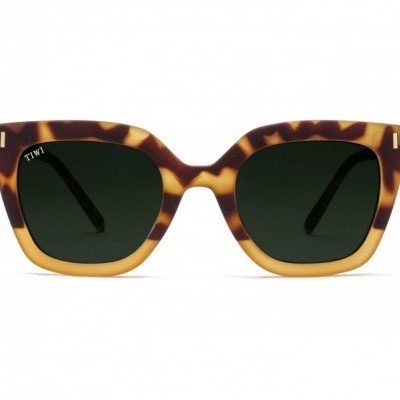 HALE | RUBBER BICOLOUR GREEN TORTOISE/HONEY WITH GREEN LENSES
