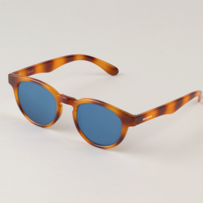 Tortoise Trastevere with dark blue lenses