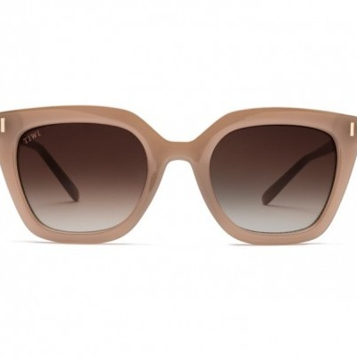 HALE | SHINY COCONUT WITH BROWN GRADIENT LENSES