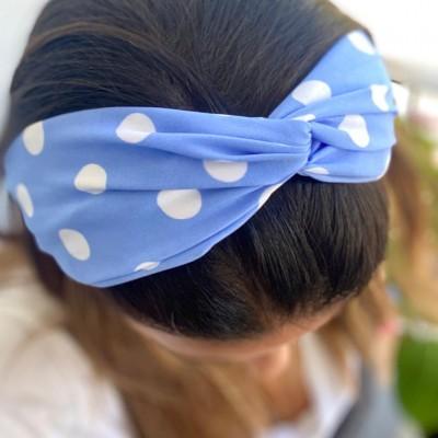 Bandolete Bolinhas | Azul