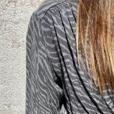 Vestido Comprido Zebra   Turquesa