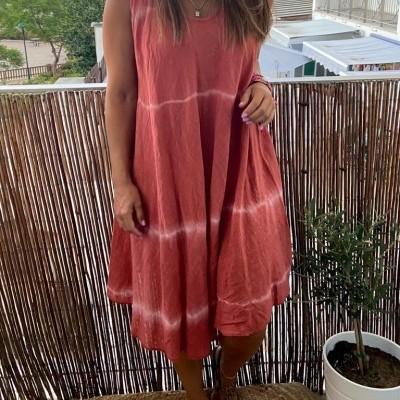 Vestido Curto Tie-Dye | Preto