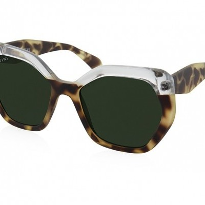 CHARON | RUBBER G TORTOISE/TRANSPARENT WITH GREEN GRADIENT LENSES