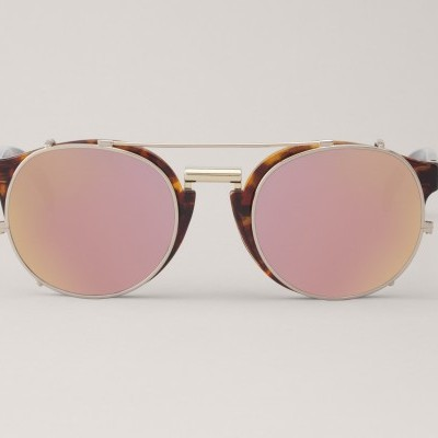 VINTAGE TORTOISE NEWTOWN WITH COPPER LENSES