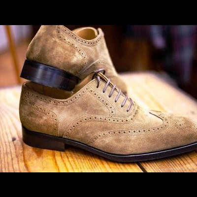 Sapatos Suede Derby Brogue