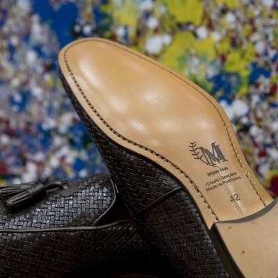 Loafers pele entrelaçada