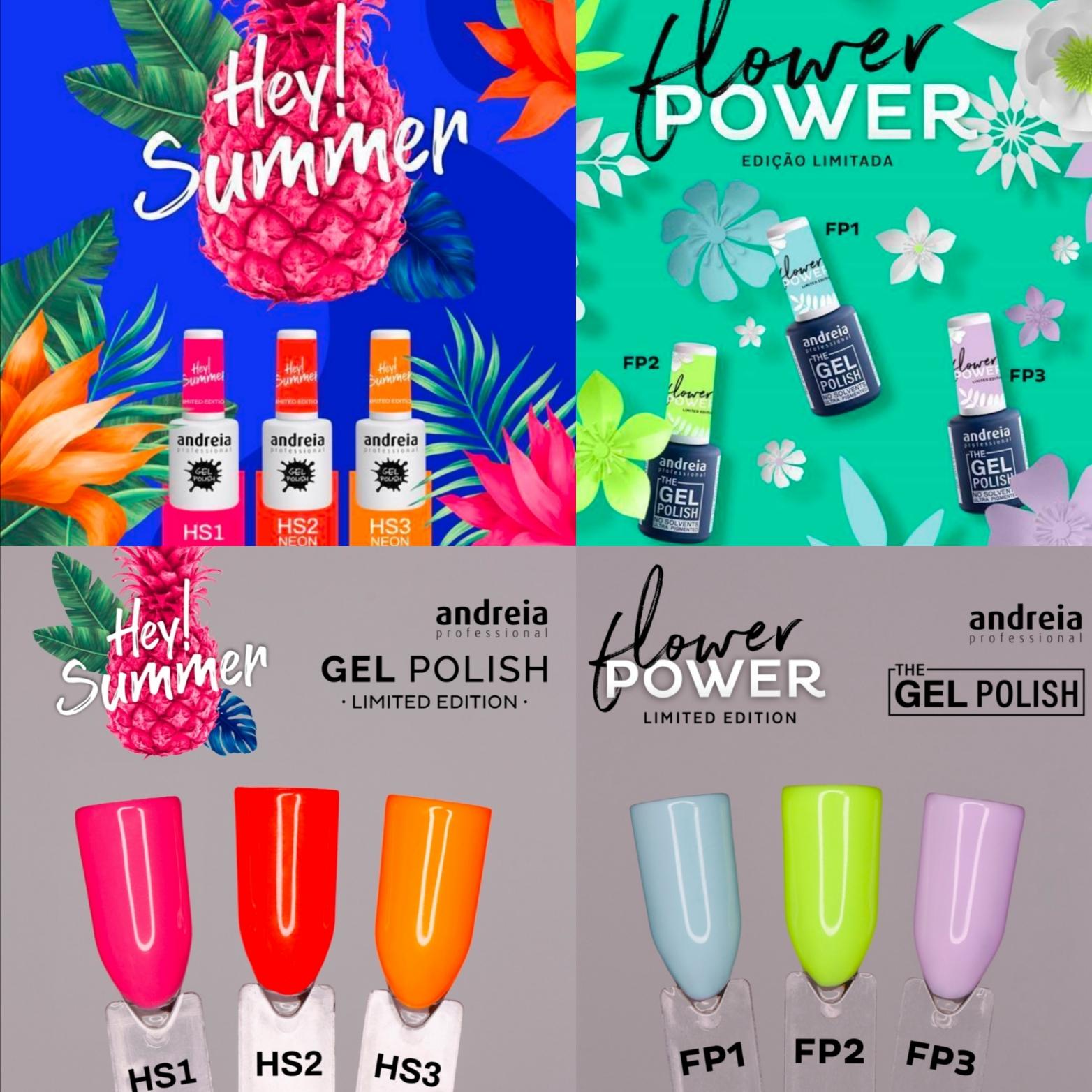 VERNIZ GEL ANDREIA - HEY SUMMER & FLOWER POWER
