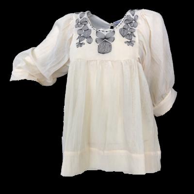 Camisa c/peito bordado