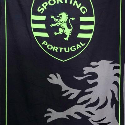 Toalha Microfibra Sporting Preta 180X100