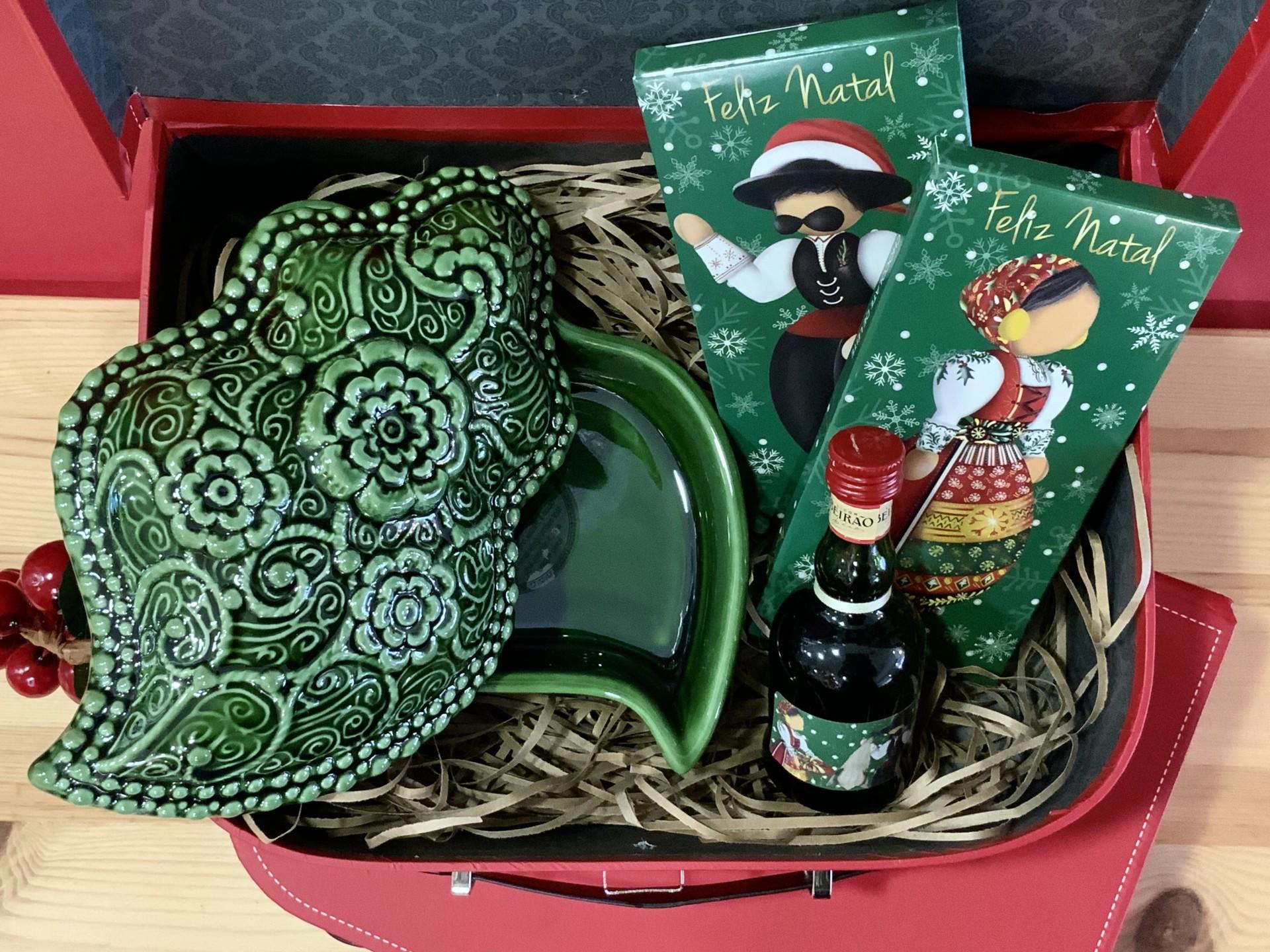 Mala de Natal Coração de Viana Verde