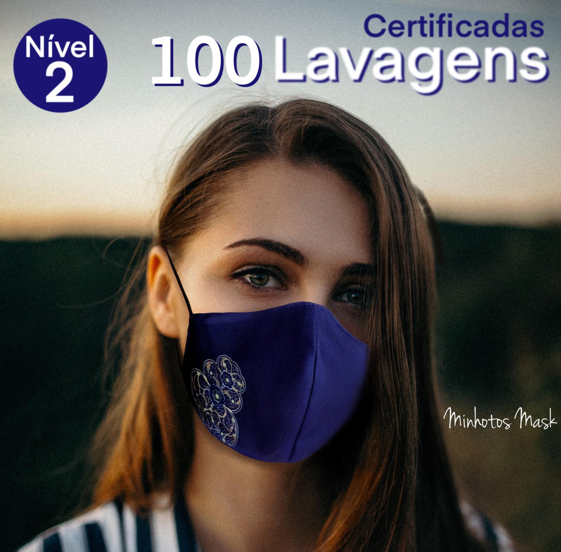 Máscara Minhotos Certificadas Nível 2 - 100 lavagens