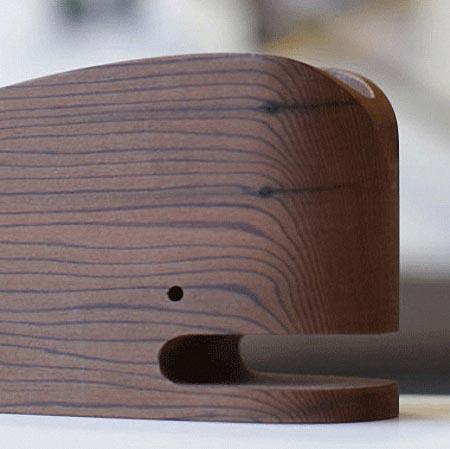 Wood Whale Desk Organizer