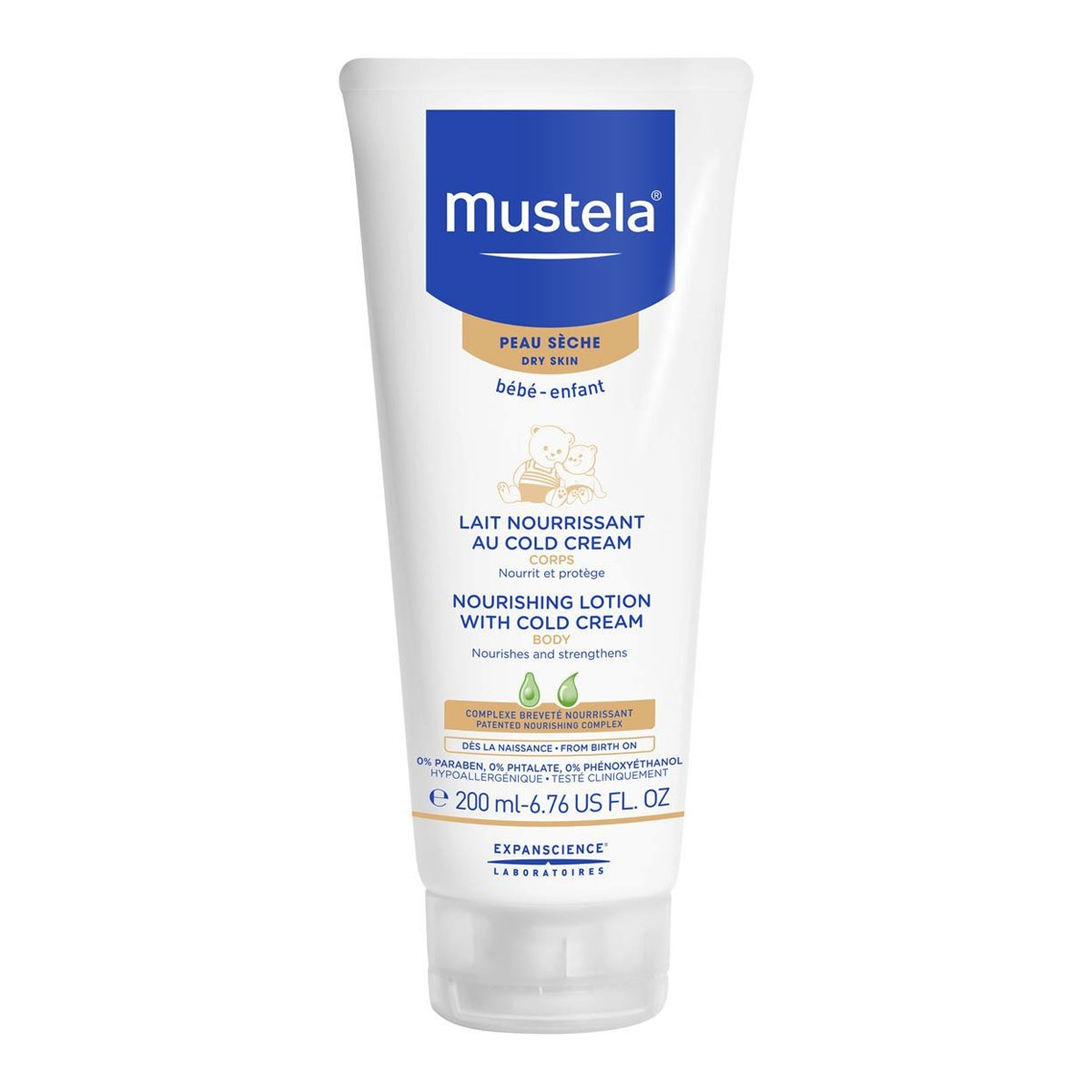 MUSTELA LEITE NUTRITIVO COM COLD CREAM 200ml