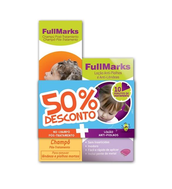 FULLMARKS CHAMPO + SPRAY TRATAMENTO PIOLHOS E LENDEAS 150ml