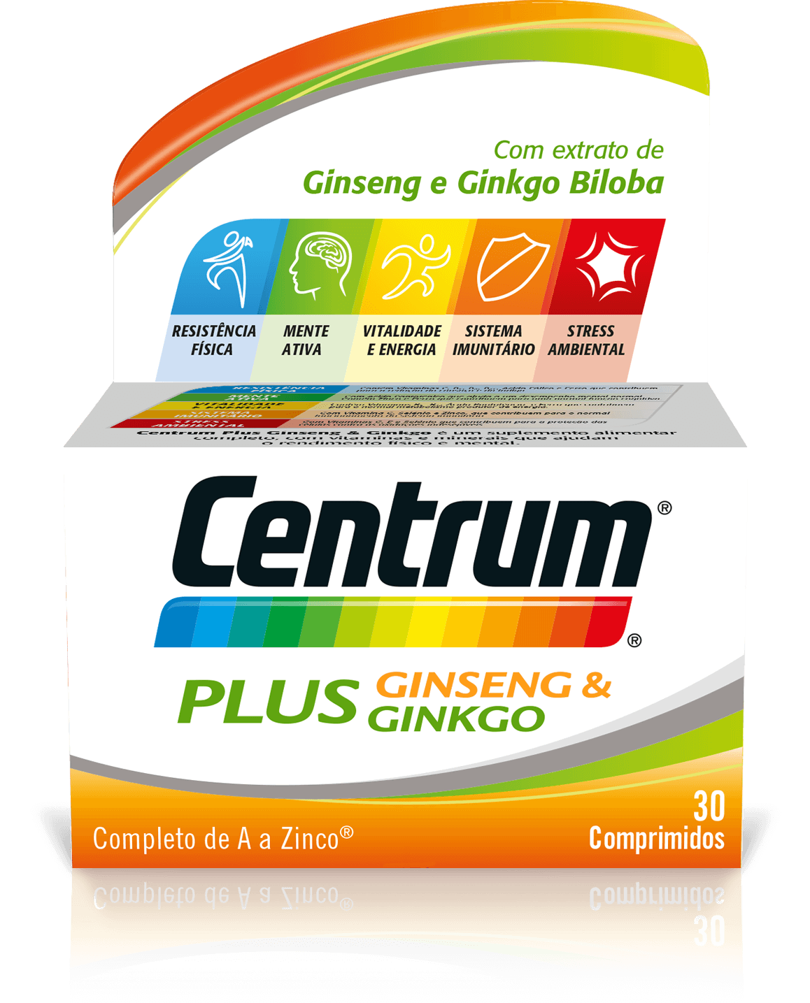 CENTRUM PLUS GINSENG GINKGO 30 COMPRIMIDOS