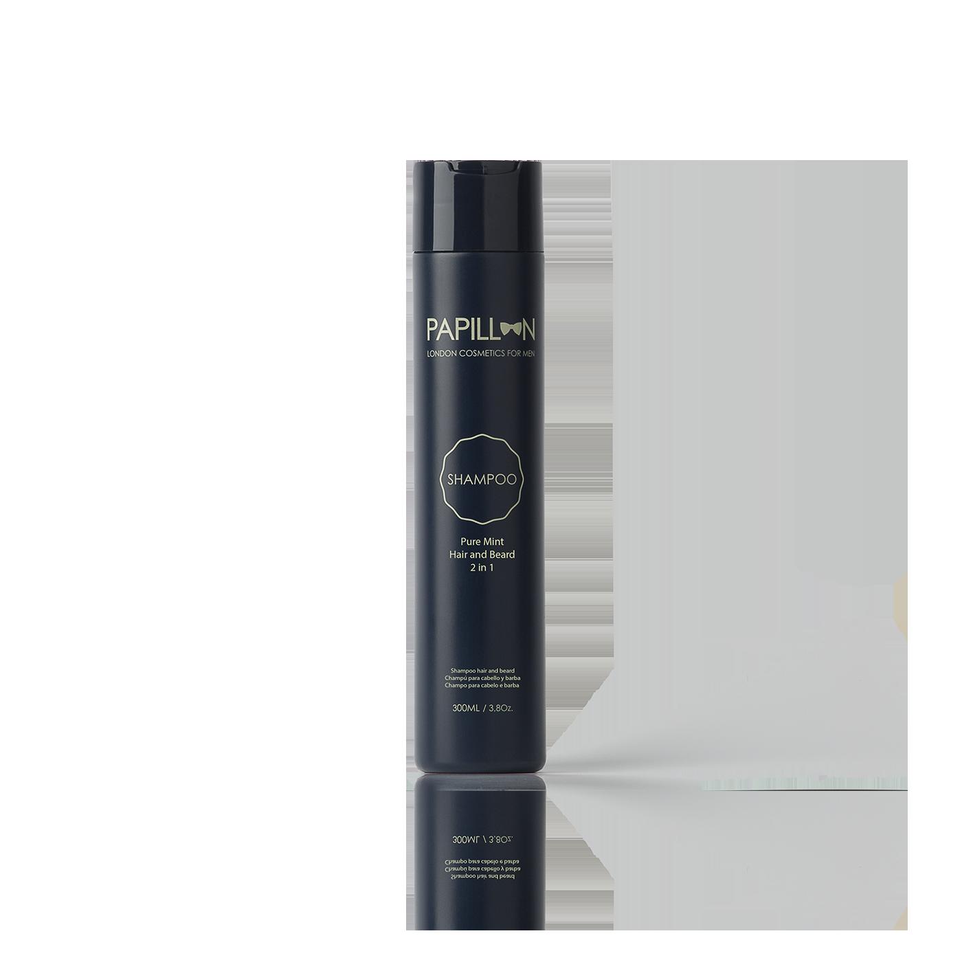 PAPILLON Pure Mint – Hair and Beard Shampoo