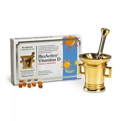 BioActivo Vitamina D (D-Pearls) 38 µg | 80 cáps