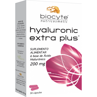 BIOCYTE HYALURONIC EXTRA PLUS 200mg | 30 | 90 cápsulas
