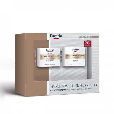 EUCERIN PACK HYALURON FILLER + ELASTICITY CREME DIA & NOITE