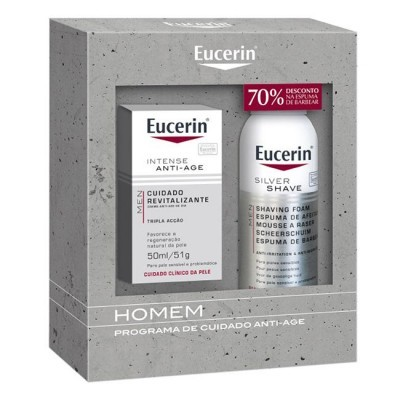 EUCERIN MEN INTENSE ANTI-AGE + SILVER SHAVE ESPUMA DE BARBEAR