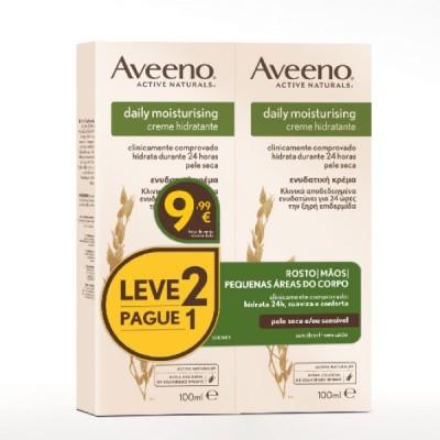 AVEENO DAILY MOISTURISING Creme Hidratante | 2 x 100ml