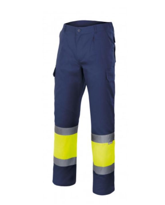 Calças forradas bicolor de alta visibilidade VELILLA