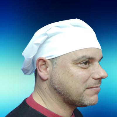Chapéu de Cozinheiro Sarja 65% Poliester 35% Algodão