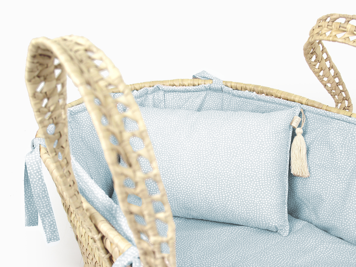 Moses basket linen set - Pearl dots