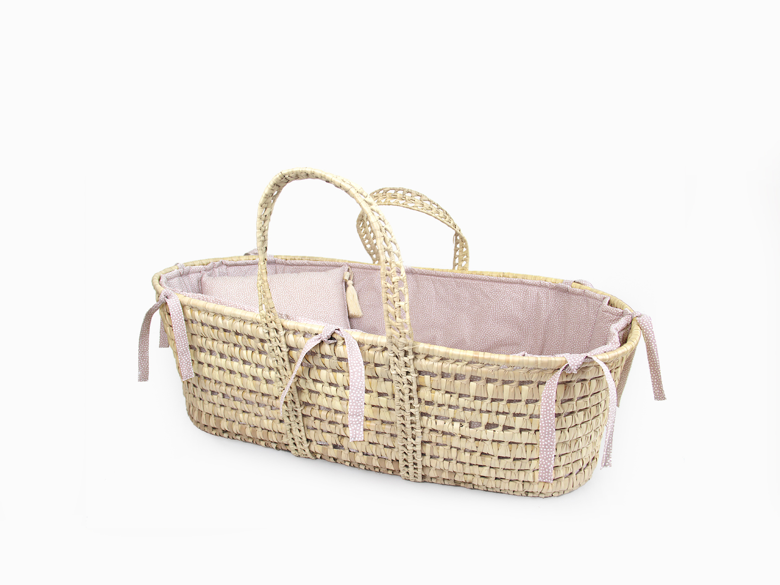 Moses basket linen set - Blush dots