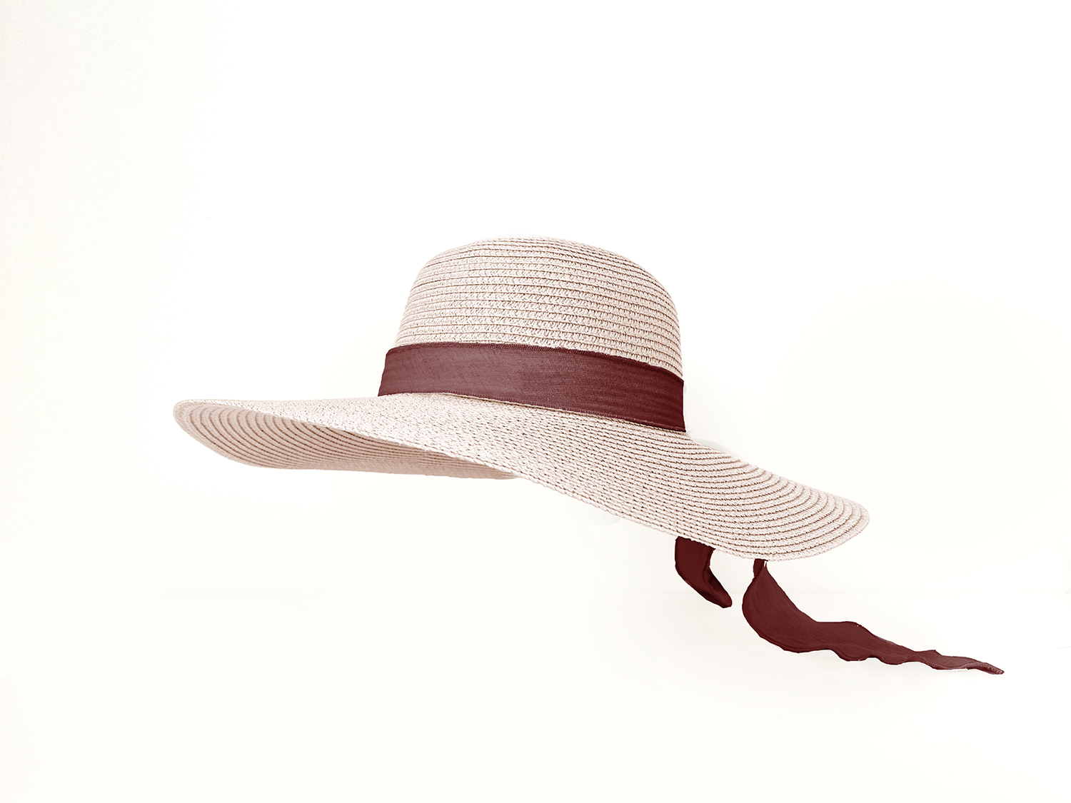 Adult Brook Hat - Rose Straw - Vanilla + Berry