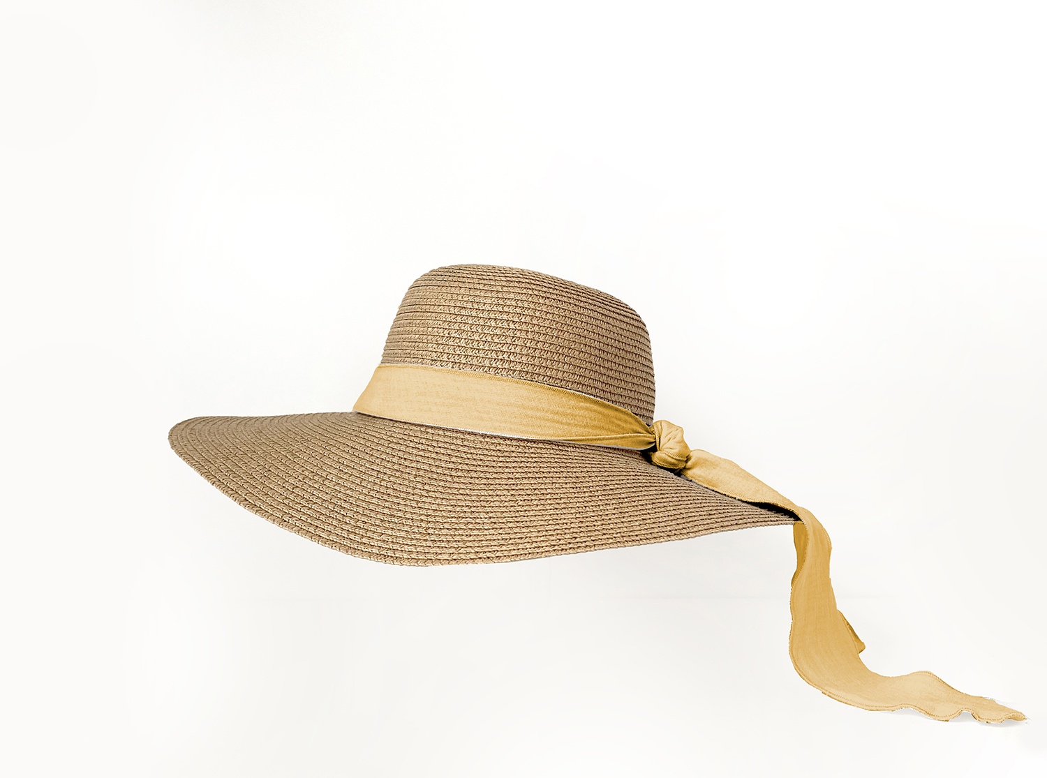 Adult Brook Hat - Dark Straw - Mustard + Terracota