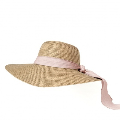 Adult Brook Hat - Dark straw - Blush + Ivory
