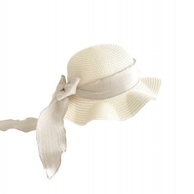 Kids Brook Hat - Vanilla Straw - blush + Ivory
