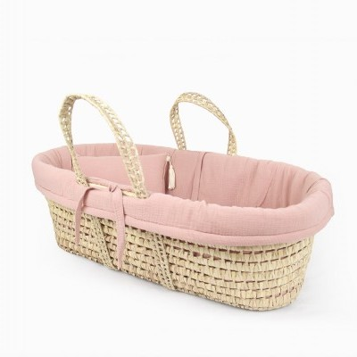 Moses basket linen set - Blush