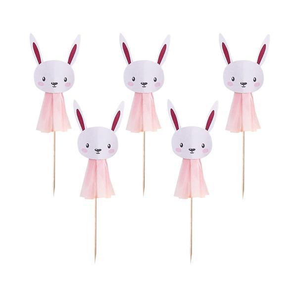 Cake Picks Bunny - Rosa