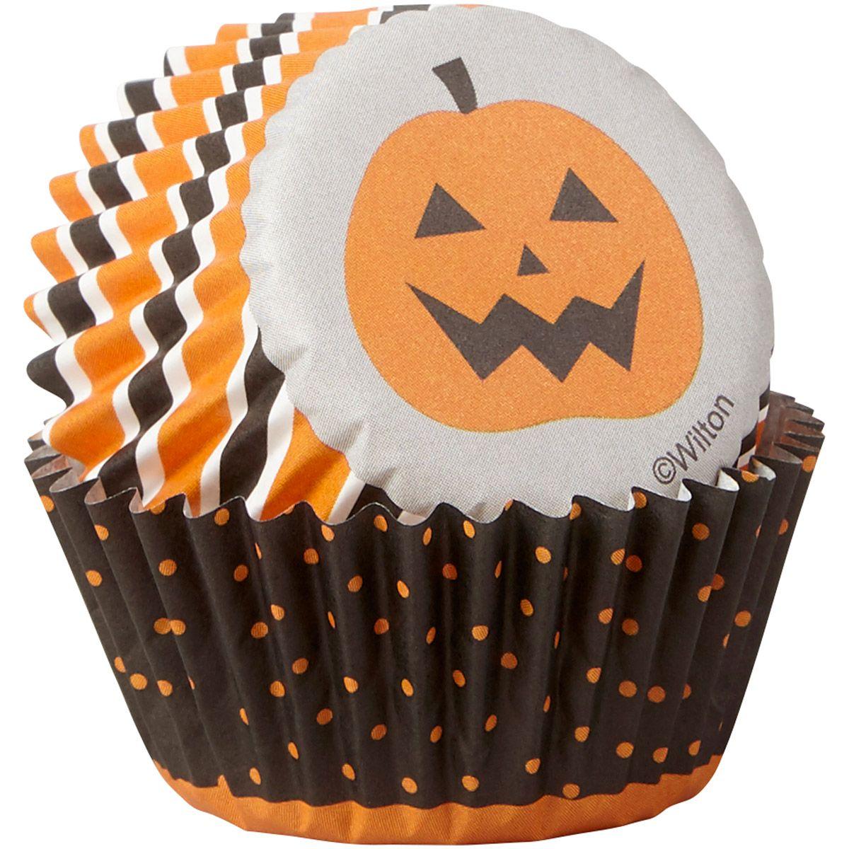 Formas CupCakes Halloween Stripe & Dots,pk/100