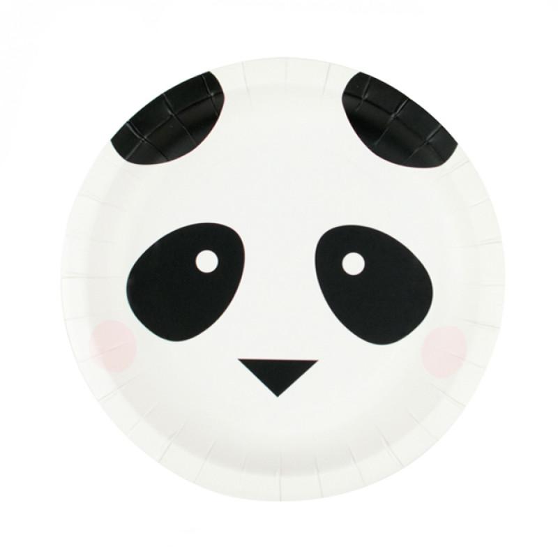 Pratos Mini Panda,pk/8