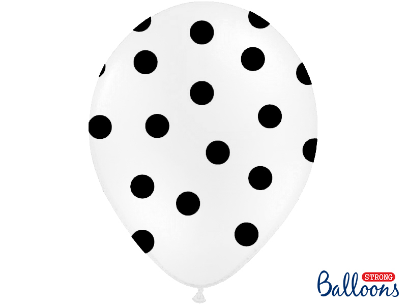 Balões 30cm, Dots, Pastel White,pk/6