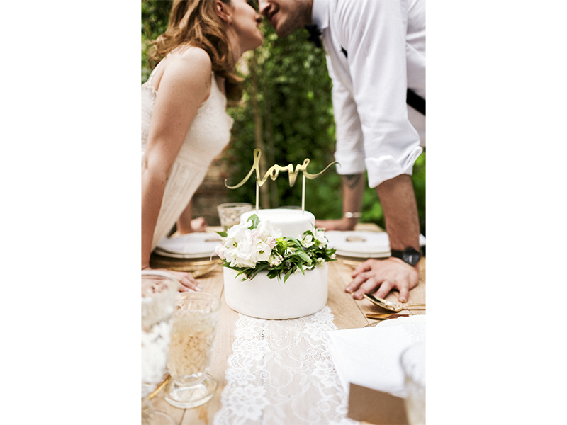 Cake topper Love - Gold