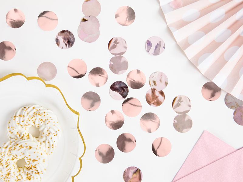 Confetti Circulos 15gr - Rose Gold