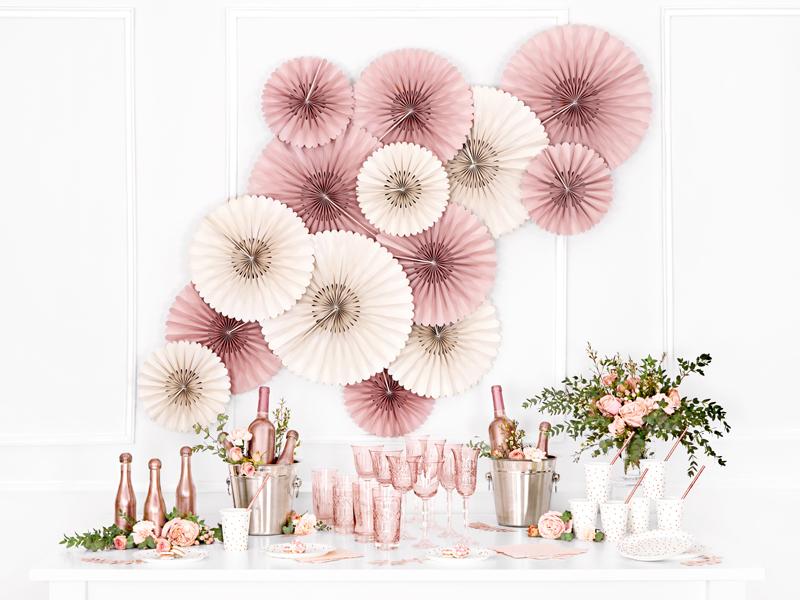 Rosetas Decorativas - Rosa Palido