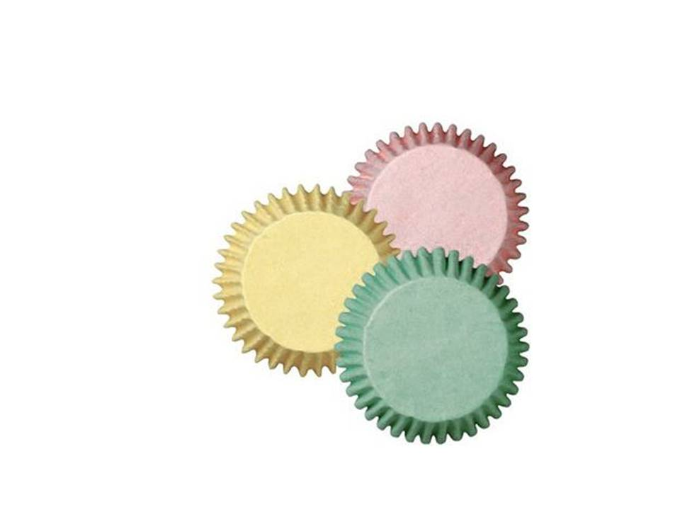 Formas Mini CupCake Cores Pastel  pk/100