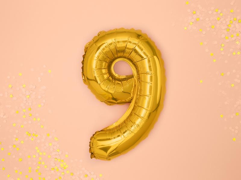 Balão 35cm  9 - Dourado