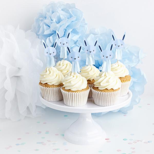 Cake Picks Bunny - Azul