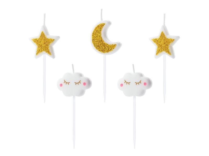Velas Little Stars Mix,pk/5