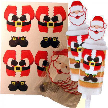 Kit Decorar PushCakes Pai Natal, pk/12