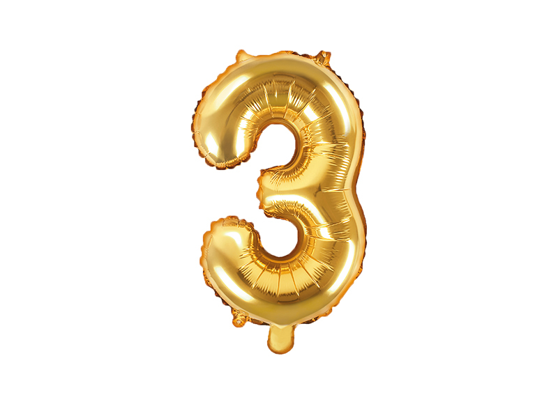 Balão 35cm  3 - Dourado