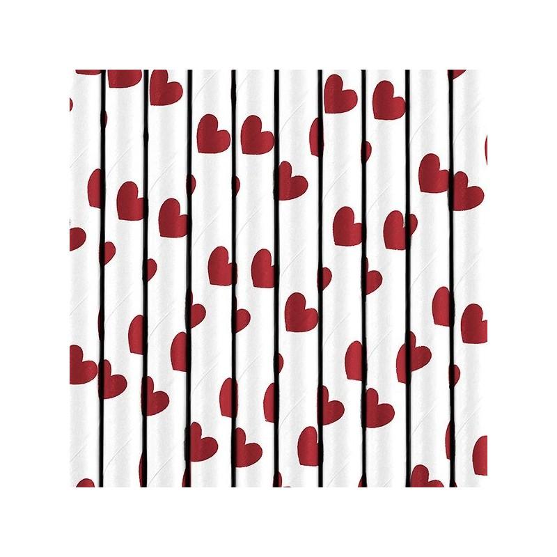 Palhinhas Corações Vermelhos,pk/10